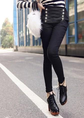 冬季怎么穿裤子显瘦,修身铅笔裤搭配方法