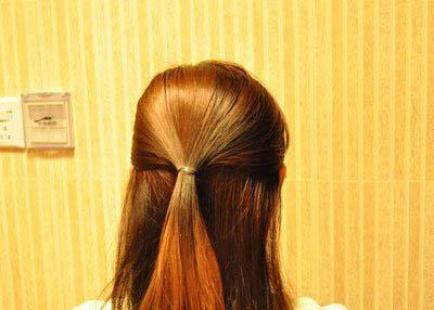 韩式简单的淑女式盘发