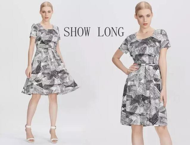 线性黑白花纹铺满整件衣服